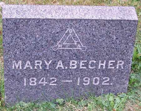 BECHER, MARY A. - Stark County, Ohio   MARY A. BECHER - Ohio Gravestone Photos