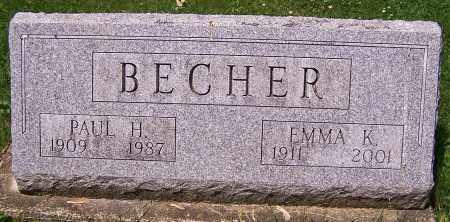 BECHER, PAUL H. - Stark County, Ohio | PAUL H. BECHER - Ohio Gravestone Photos