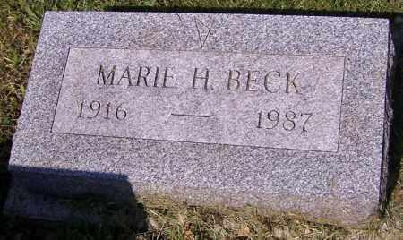 BECK, MARIE H. - Stark County, Ohio | MARIE H. BECK - Ohio Gravestone Photos