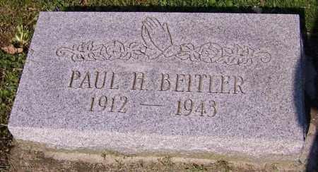 BEITLER, PAUL H. - Stark County, Ohio | PAUL H. BEITLER - Ohio Gravestone Photos