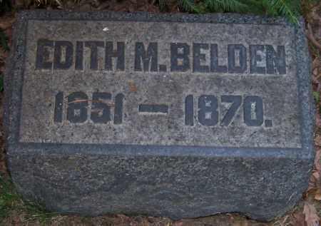 BELDEN, EDITH M. - Stark County, Ohio | EDITH M. BELDEN - Ohio Gravestone Photos