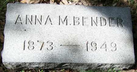 BENDER, ANNA M. - Stark County, Ohio | ANNA M. BENDER - Ohio Gravestone Photos