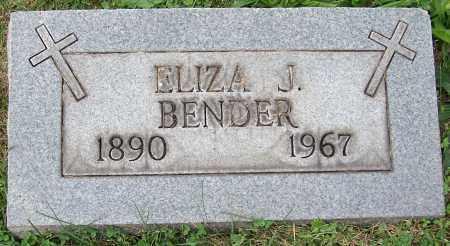 BENDER, ELIZA J. - Stark County, Ohio   ELIZA J. BENDER - Ohio Gravestone Photos