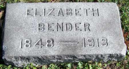 BENDER, ELIZABETH - Stark County, Ohio | ELIZABETH BENDER - Ohio Gravestone Photos