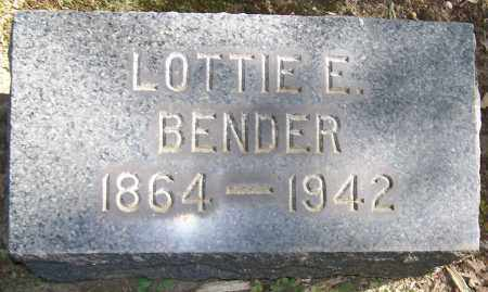 BENDER, LOTTIE E. - Stark County, Ohio | LOTTIE E. BENDER - Ohio Gravestone Photos