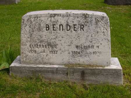 BENDER, WILLIAM H. - Stark County, Ohio   WILLIAM H. BENDER - Ohio Gravestone Photos