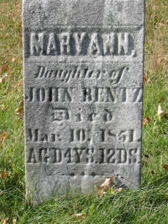 BENTZ, MARY ANN - Stark County, Ohio | MARY ANN BENTZ - Ohio Gravestone Photos