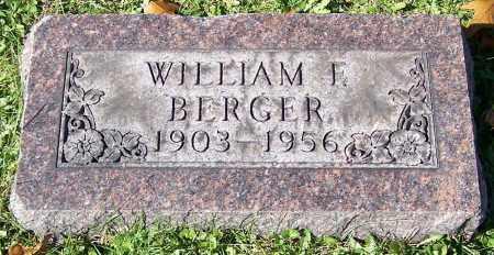 BERGER, WILLIAM F. - Stark County, Ohio | WILLIAM F. BERGER - Ohio Gravestone Photos