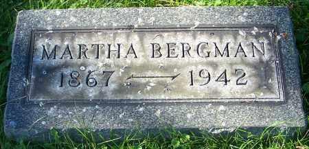 BERGMAN, MARTHA - Stark County, Ohio   MARTHA BERGMAN - Ohio Gravestone Photos