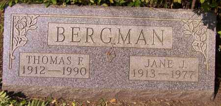 BERGMAN, THOMAS F. - Stark County, Ohio | THOMAS F. BERGMAN - Ohio Gravestone Photos