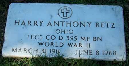 BETZ, HARRY ANTHONY - Stark County, Ohio | HARRY ANTHONY BETZ - Ohio Gravestone Photos
