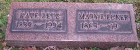 BETZ, KATE - Stark County, Ohio | KATE BETZ - Ohio Gravestone Photos