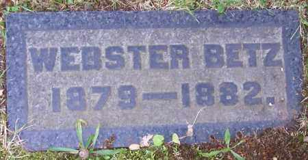 BETZ, WEBSTER - Stark County, Ohio | WEBSTER BETZ - Ohio Gravestone Photos