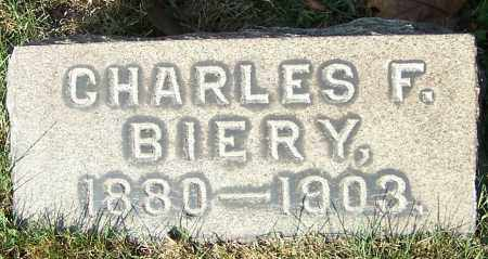 BIERY, CHARLES F. - Stark County, Ohio   CHARLES F. BIERY - Ohio Gravestone Photos