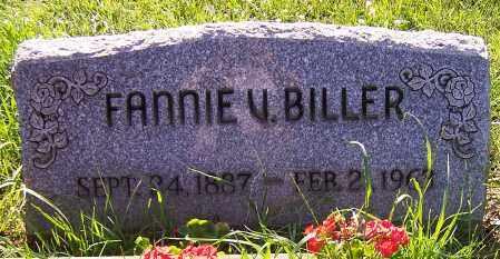 BILLER, FANNIE V. - Stark County, Ohio | FANNIE V. BILLER - Ohio Gravestone Photos
