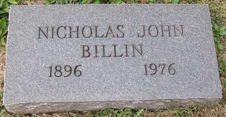 BILLIN, NICHOLAS JOHN - Stark County, Ohio | NICHOLAS JOHN BILLIN - Ohio Gravestone Photos