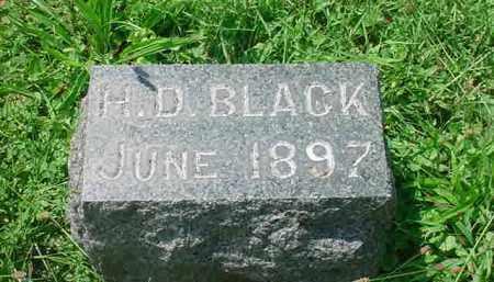 BLACK, H. D. - Stark County, Ohio | H. D. BLACK - Ohio Gravestone Photos
