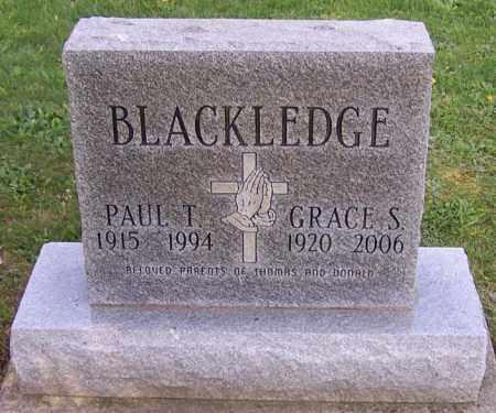 BLACKLEDGE, PAUL T. - Stark County, Ohio | PAUL T. BLACKLEDGE - Ohio Gravestone Photos
