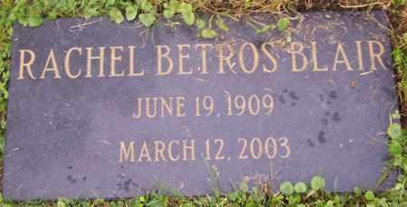 BETROS BLAIR, RACHEL - Stark County, Ohio | RACHEL BETROS BLAIR - Ohio Gravestone Photos