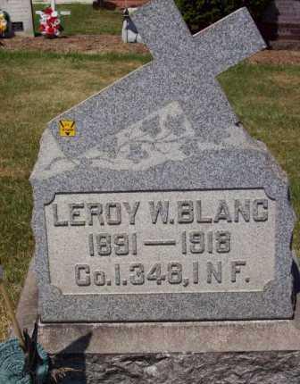 BLANC, LEROY W. - Stark County, Ohio   LEROY W. BLANC - Ohio Gravestone Photos