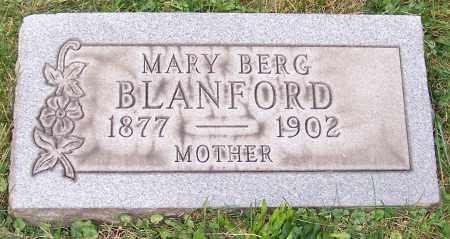 BLANFORD, MARY BERG - Stark County, Ohio | MARY BERG BLANFORD - Ohio Gravestone Photos