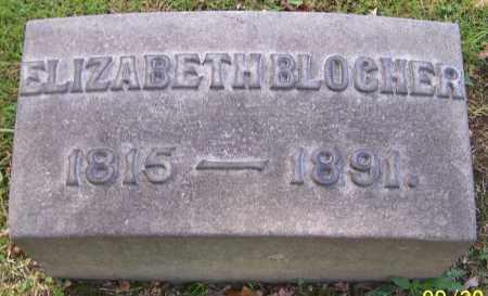 BLOCHER, ELIZABETH - Stark County, Ohio | ELIZABETH BLOCHER - Ohio Gravestone Photos
