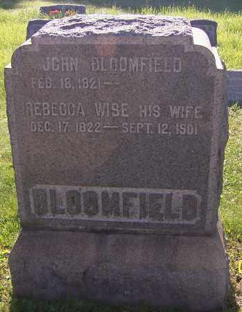 BLOOMFIELD, REBECCA WISE - Stark County, Ohio | REBECCA WISE BLOOMFIELD - Ohio Gravestone Photos