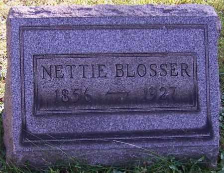 BLOSSER, NETTIE - Stark County, Ohio | NETTIE BLOSSER - Ohio Gravestone Photos