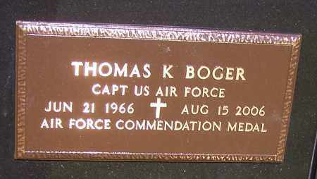 BOGER, THOMAS K.  (MIL) - Stark County, Ohio | THOMAS K.  (MIL) BOGER - Ohio Gravestone Photos