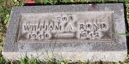 BOND, WILLIAM A. - Stark County, Ohio | WILLIAM A. BOND - Ohio Gravestone Photos