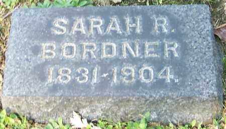 BORDNER, SARAH R. - Stark County, Ohio | SARAH R. BORDNER - Ohio Gravestone Photos