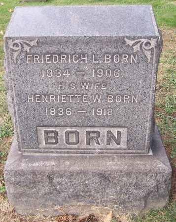 BORN, HENRIETTE W. - Stark County, Ohio | HENRIETTE W. BORN - Ohio Gravestone Photos