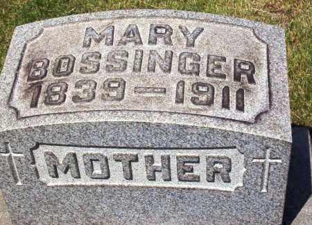 HAGER BOSSINGER, MARY - Stark County, Ohio   MARY HAGER BOSSINGER - Ohio Gravestone Photos