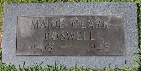 BOSWELL, MARIE CLARK - Stark County, Ohio | MARIE CLARK BOSWELL - Ohio Gravestone Photos