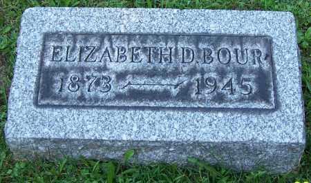 BOUR, ELIZABETH D. - Stark County, Ohio | ELIZABETH D. BOUR - Ohio Gravestone Photos