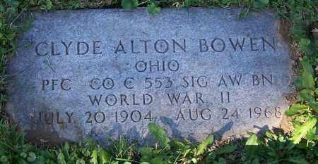 BOWEN, CLYDE ALTON - Stark County, Ohio   CLYDE ALTON BOWEN - Ohio Gravestone Photos