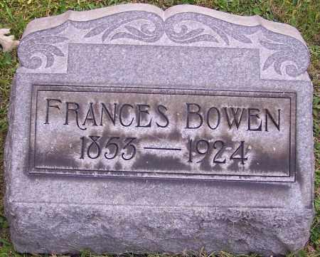 BOWEN, FRANCES - Stark County, Ohio   FRANCES BOWEN - Ohio Gravestone Photos