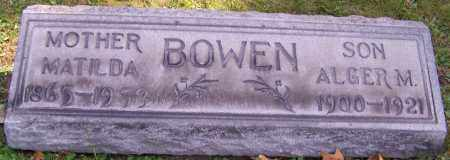 BOWEN, MATILDA - Stark County, Ohio | MATILDA BOWEN - Ohio Gravestone Photos
