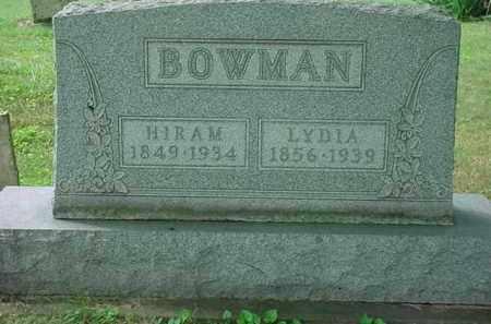 ANDERSON BOWMAN, LYDIA L - Stark County, Ohio | LYDIA L ANDERSON BOWMAN - Ohio Gravestone Photos