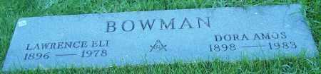 BOWMAN, DORA AMOS - Stark County, Ohio | DORA AMOS BOWMAN - Ohio Gravestone Photos