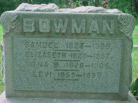 BOWMAN, ANNA B - Stark County, Ohio | ANNA B BOWMAN - Ohio Gravestone Photos