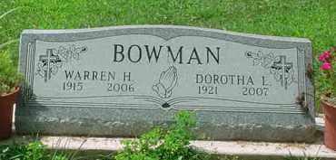 BOWMAN, WARREN H - Stark County, Ohio | WARREN H BOWMAN - Ohio Gravestone Photos