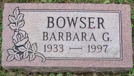 BOWSER, BARBARA G. - Stark County, Ohio | BARBARA G. BOWSER - Ohio Gravestone Photos