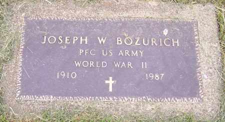 BOZURICH, JOSEPH W. - Stark County, Ohio   JOSEPH W. BOZURICH - Ohio Gravestone Photos