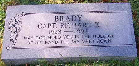 BRADY, CAPT. RICHARD K. - Stark County, Ohio   CAPT. RICHARD K. BRADY - Ohio Gravestone Photos