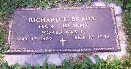 BRADY, RICHARD K. - Stark County, Ohio | RICHARD K. BRADY - Ohio Gravestone Photos