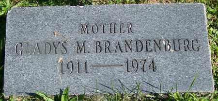 BRANDENBURG, GLADYS M. - Stark County, Ohio | GLADYS M. BRANDENBURG - Ohio Gravestone Photos