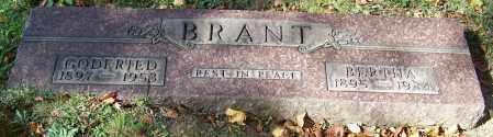 BRANT, GODFRIED - Stark County, Ohio | GODFRIED BRANT - Ohio Gravestone Photos