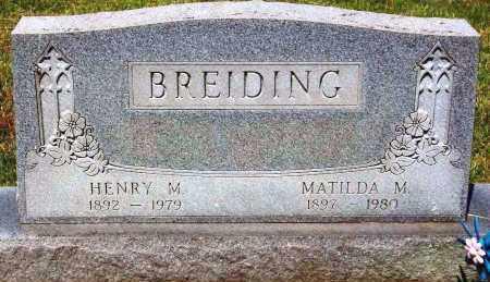 BREIDING, HENRY M. - Stark County, Ohio   HENRY M. BREIDING - Ohio Gravestone Photos