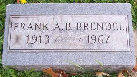 BRENDEL, FRANK A.B. - Stark County, Ohio   FRANK A.B. BRENDEL - Ohio Gravestone Photos